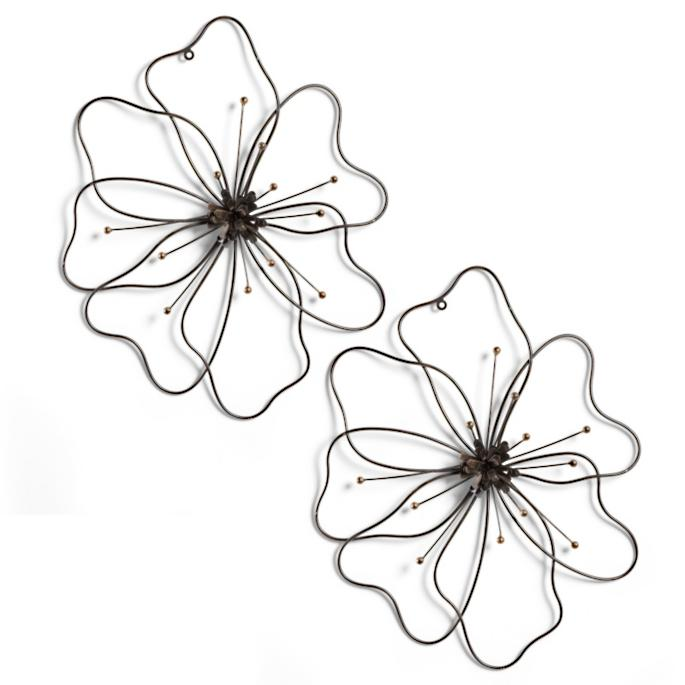 Poppy Flower Metal Art Grandin Road