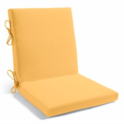 Solid Two Piece Hinged Chair Cushion