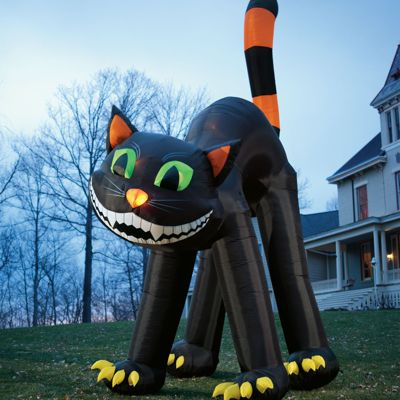 Giant Inflatable Black Cat Grandin Road