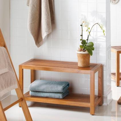 corner bench teak assembled solid shelf with stool contemporary shower chair