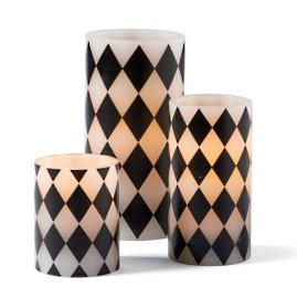 Battery Operated Harlequin Candles