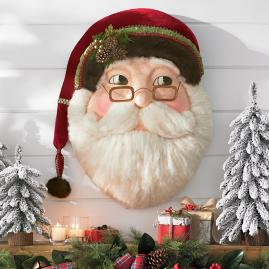 1950s-inspired Woodland Santa Wallpiece