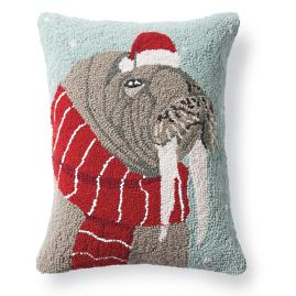 Walrus Winter Wonderland Pillow
