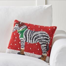 Winter Wonderland Pillow, Zebra