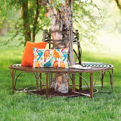 Verona circular tree bench grandin road Circular tree bench