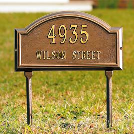 Providence Lawn Address Plaques