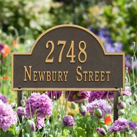 Arched Address Lawn Plaque