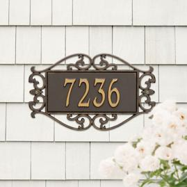 Fretwork Address Plaques