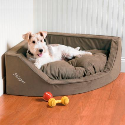 Luxury Corner Dog Bed Grandin Road