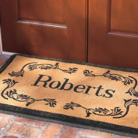 Leaf Monogram Coco Doormat