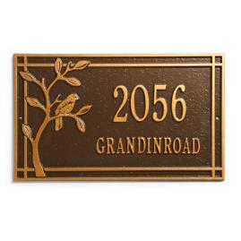 Bird on a Branch Address Plaque