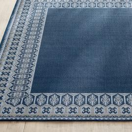 Avalon Geo Border Outdoor Rug & Mat