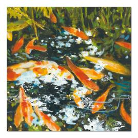Koi Outdoor Wall Art