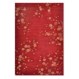 Cherry Blossom Red Indoor Area Rug