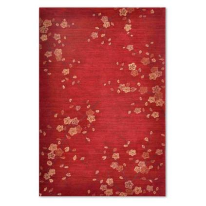 Marvelous Cherry Blossom Area Rug Part - 5: Cherry Blossom Red Indoor Area Rug