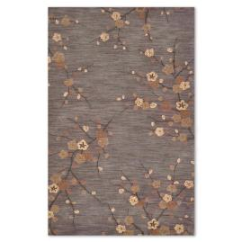 Cherry Blossom Steel Indoor Area Rug