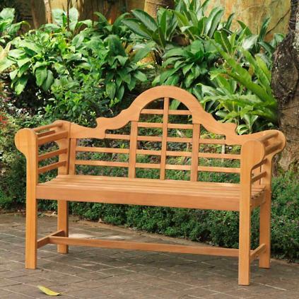 Marvelous All Natural Teak Lutyens Bench