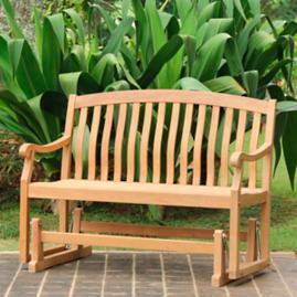All-natural Teak Glider Bench