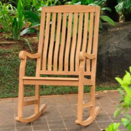 All-natural Teak Rocking Chair