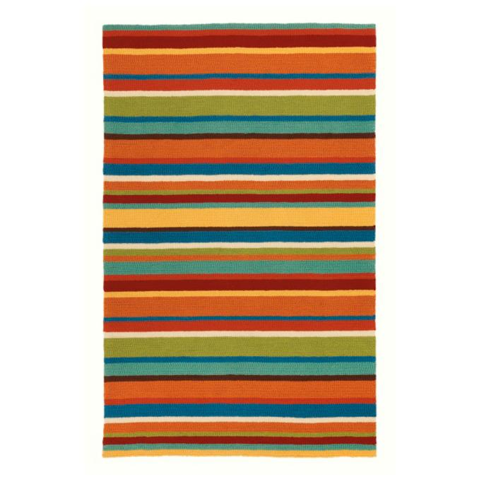 Chic Indoor Outdoor Stripe Rugs 6 Colors Available: Cabana Stripe Outdoor Rug