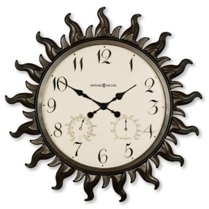 sunburst outdoor wall clock by howard miller