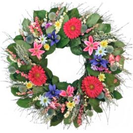 Dried Spring Into Summer Wreath