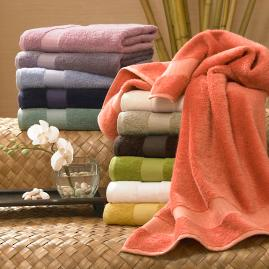 Cotton and Bamboo Rayon Six-piece Towel Set