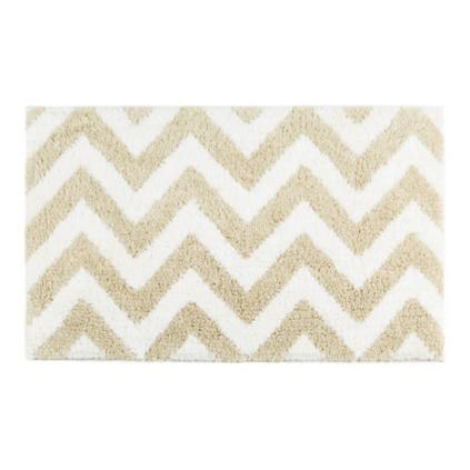 Linen Chevron Bath Rug