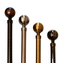 Lexington Ball Finial Rod Set