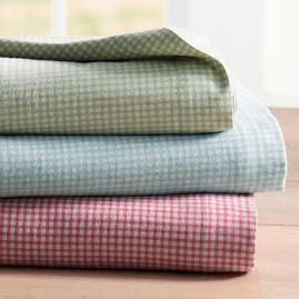 Gingham Flannel Sheet Set