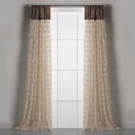 Chichi Petal Curtain with Velvet Header