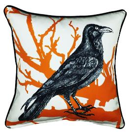 Crow Halloween Pillow