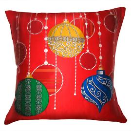 Colorful Ornaments Throw Pillow