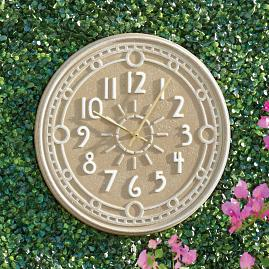 Ashland Outdoor Wall Clock and Thermometer
