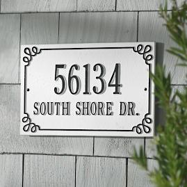 Pemberley Double Rectangle Address Plaque