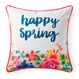 Happy Spring Flower Pillow