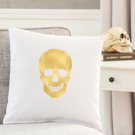 Gold Skull Pillow