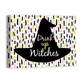 Drink Up Witches Canvas Wall Art