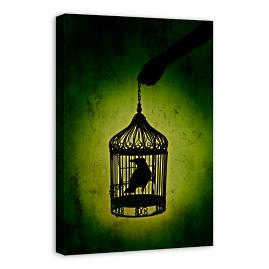 Birdcage Canvas Wall Art