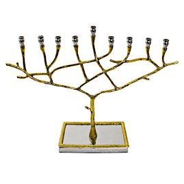 Gold Branch Menorah