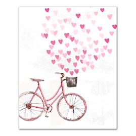 Valentine Bike Canvas