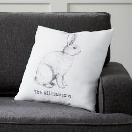 Personalized Bunny Pillow
