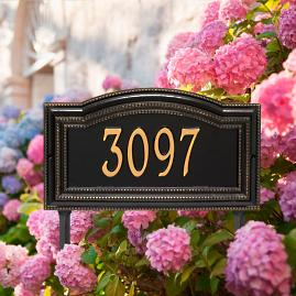 Cambridge Single Line Yard Address Plaque