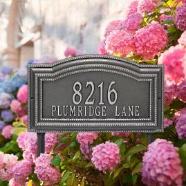 Cambridge Two Line Yard Address Plaque