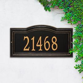 Large Cambridge Single Line Wall Address Plaque