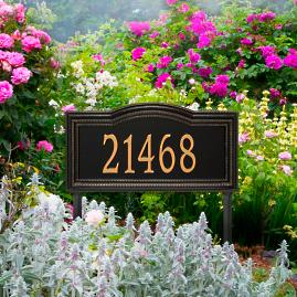 Large Cambridge Single Line Yard Address Plaque