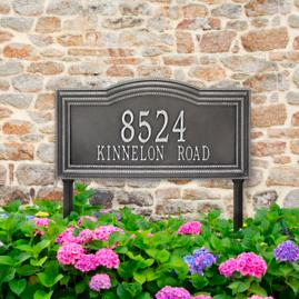 Large Cambridge Two Line Yard Address Plaque