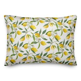 Chatham Lemon Wreath Lumbar Pillow