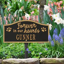 Forever In Our Hearts Lawn Sign
