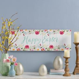 Happy Easter Floral Canvas